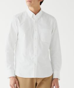 無印良品 オックスボタンダウンシャツ